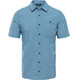 The North Face Hypress S/S Shirt Men Blue Coral Plaid